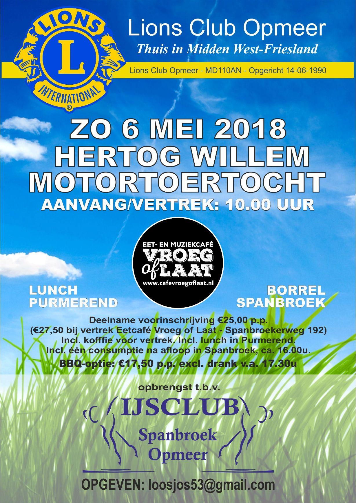Motortoertocht IJsclub Spanbroek Opmeer 2018